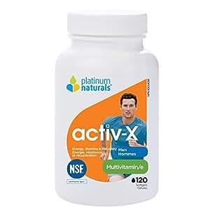 Platinum Naturals Activ-X For Men MultiVitamin for Athletes (120 capsules)