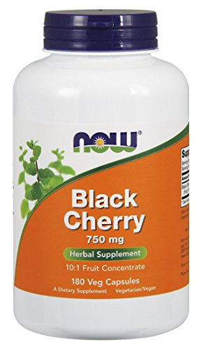 NOW Black Cherry Fruit Concentrate 750 mg, 180 Veg Capsules