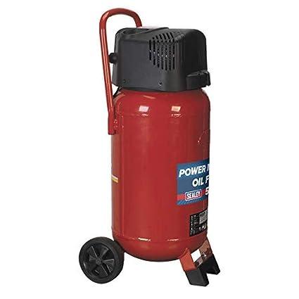 Sealey SAC05020 - Compresor de transmisión de correa sin aceite (50 l), color