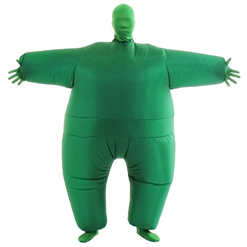 Green Body Suit Costume (VOCOO Lnflatable Costumes Adult Size Inflatable Body Suits Pants (green))