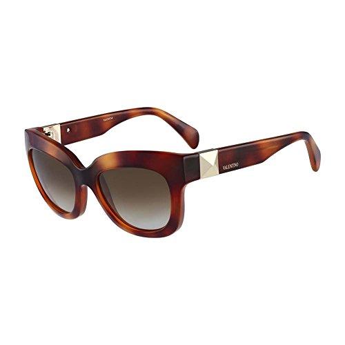 Valentino Women's Sunglasses, Blond Havana, 53-20-135
