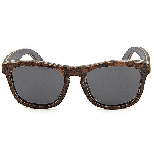 Hechas Protección Gris Sol Personalidad Blandas De Hombres Los Mano Peggy Conducción Gafas Uv A Polarizadas Madera Gu Playa OTwq5v