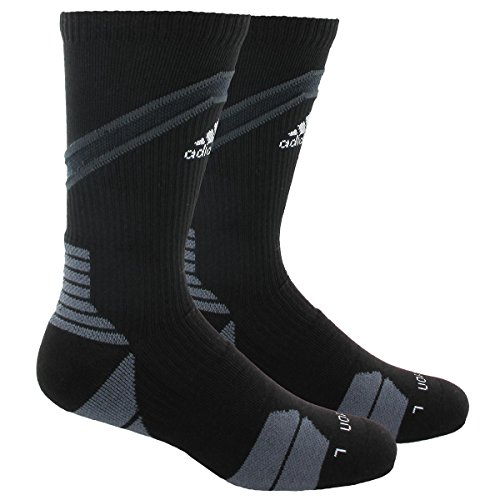 adidas Traxion Impact Basketball/Football Crew Socks, Black/White/Dark Grey/Onix, Large (Adidas Football Socks compare prices)