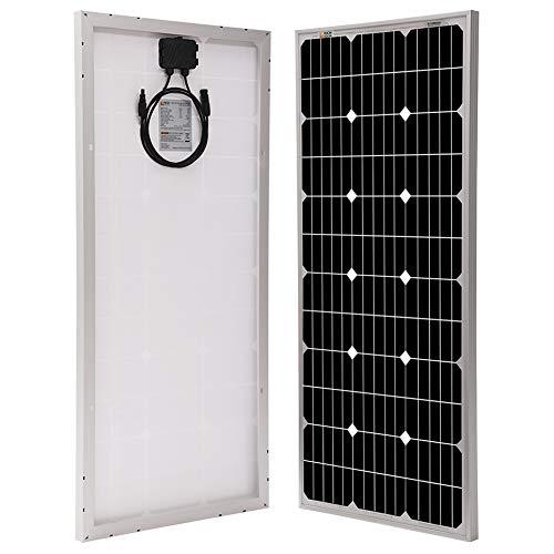 Richsolar 100 Watt 12 Volt Monocrystalline Solar Panel With Mc4 Connectors 12 Volt Battery Charging Rv Boat Off Grid 100w