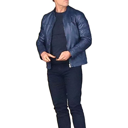 (Mission Impossible (MI6) (Ethan Hunt) Tom Cruise Fallout Faux Leather Jacket X-Large Blue)