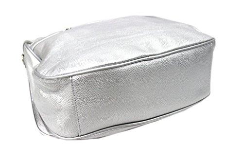 Borsa donna linea texas modello cartella a mano Lookat s1326 argento