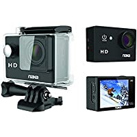 Naxa NDC-405 12MP Waterproof 720p Action Camera, Shiny Black