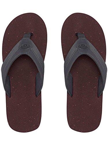 Animal Flop Nubuck Footbed PU Sandals Soft Mens Gris Huxley Webbed Flip EVA rqSpzr