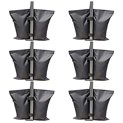 ABCCANOPY Canopy Weight Bags, Leg Weights for Pop up Canopy Weighted Feet Bag Sand Bag 6pcs-Pack : Garden & Outdoor
