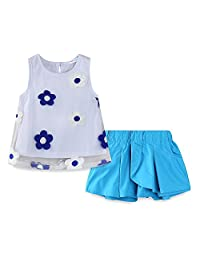 Mud Kingdom Little Girls Outfits Summer Holiday Sunflower