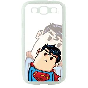 Popular Cute Cartoon Superman Samsung Galaxy S3 SIII I9300 TPU Soft Black or White case (White)