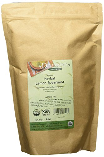 (Davidson's Tea Bulk, Organic Herbal Lemon Spearmint, 16-Ounce Bag)