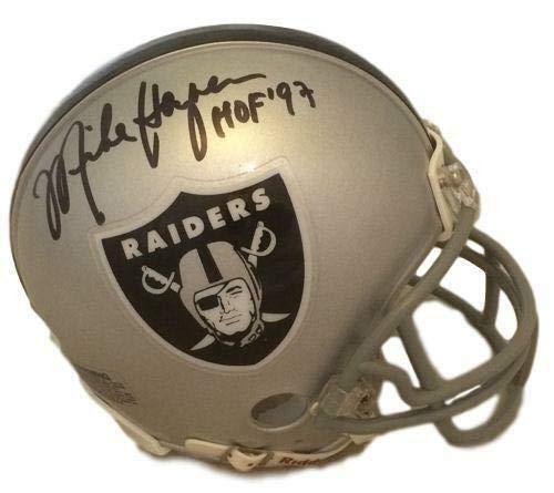 Mike Haynes Autographed Oakland Raiders Mini Helmet w/HOF 97 JSA ()