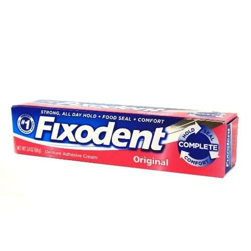 Fixodent Denture Adhesive Cream Original 2.40 oz (Pack of 10) by Fixodent