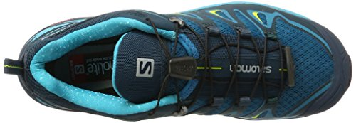 Salomon Womens X Ultra 3 Hiking Shoes Tahitian Tide / Reflecting Pond / Lime Punch VEC9TwwQS5