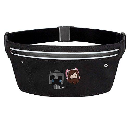 Youtube PopularMMOs Logo Waist Pack For Men Women Sport Waist Bag Pack Black