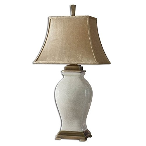 Uttermost Rory Porcelain Table Lamp in Crackled Aged Ivory Glaze .by_homesquarecom ()