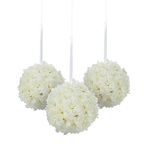 Fun Express - Hydrangea Pomander Kissing Balls (3pc) for Wedding - Home Decor - Floral - Arrangements & Boxed Sets - Wedding - 3 Pieces