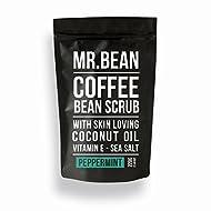 Mr. Bean Organic Coffee Scrub with Coconut Oil, Vitamin E, and Sea Salt - PEPPERMINT by Mr Bean Body Care