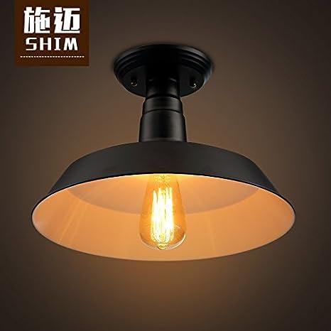 FLRLY Easy Fit moderno y luz de techo Retro sombra Sepia ...