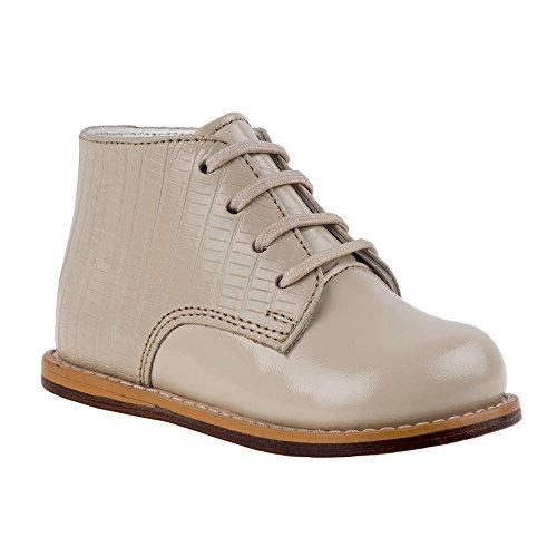 Josmo 8190HL Baby Walker Leather Dress Boots, Beige Half Lizard - 4
