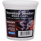 Wood Smoker Chips - Hickory Flavored Wood Chips (1 Pint)