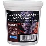 Hickory Wood Smoker Chips- 100% Natural Wood Smoking and Barbecue Chips- 1 Pint