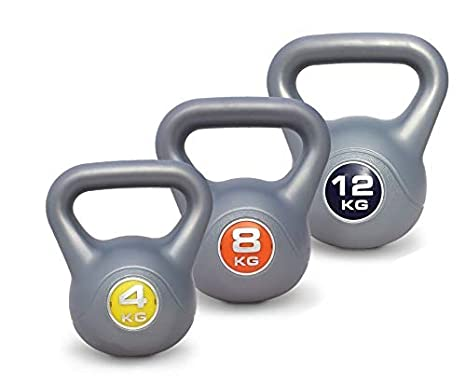 UK Fitness Juego de Pesas Rusas de 4 kg-8kg-12kg Vinilo Pesas ...
