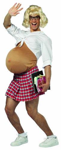 Rasta Imposta Pregnant School Girl, White, Standard - Halloween Costumes For Pregnant Girls