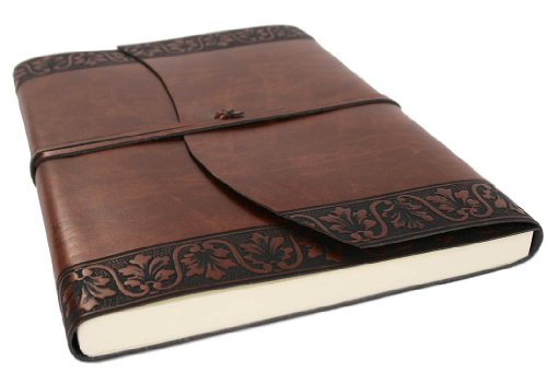 Romano Flora Handmade Italian Recycled Leather Journal Large size A4 (23cm x 30cm)