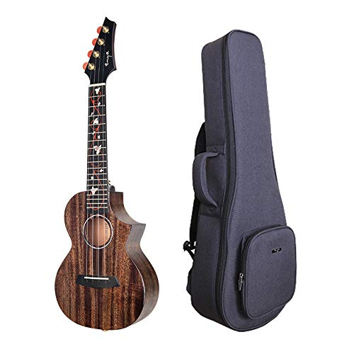 Enya EUT-M6 Tenor Ukulele NEW Dark Brown Color All AAA Solid Mahogany Wood Ukulele with Padded Ukulele Bag