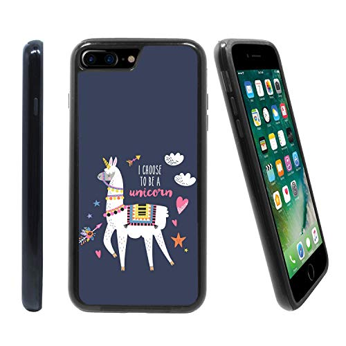 [Funny Llama Costume Unicorn] for Apple iPhone 7 Plus/iPhone 8 Plu (5.5 inches), Hybrid Heavy Duty Armor Shockproof Silicone Cover Rugged case (Best Type Of Skateboard)