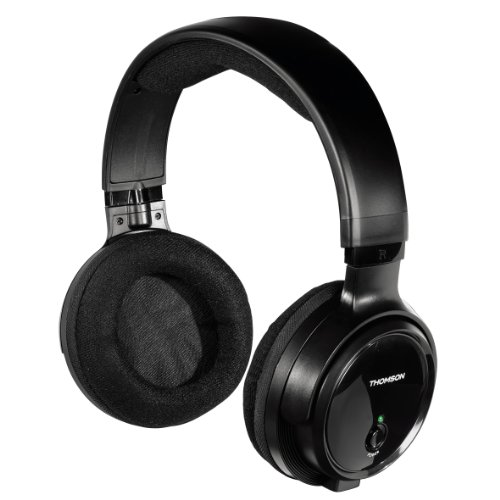Thomson WHP3001BK Radio UHF Wireless Headphones - Black