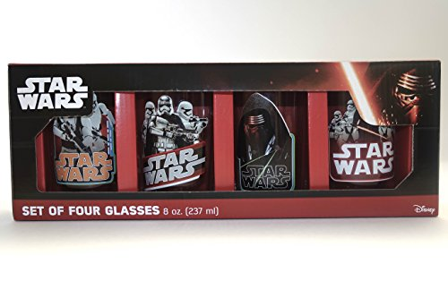 Star Wars Set of Four Drinking Glasses 8oz.
