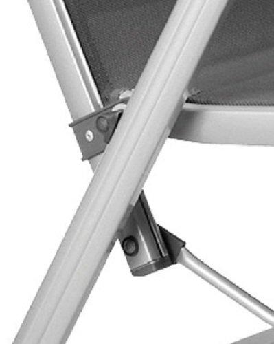 Tumbona plegable de aluminio y textilene color plateado y antracita Kettler Basic Plus