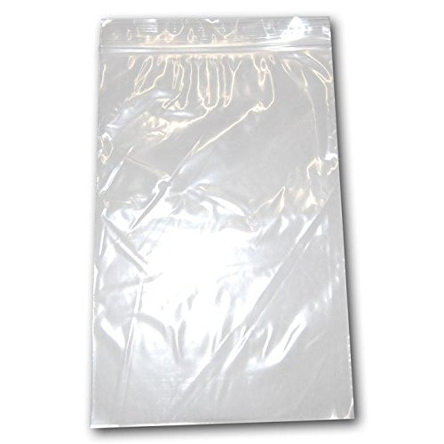 100 Poly Bag Zipper Resealable Plastic Shipping Bags 6