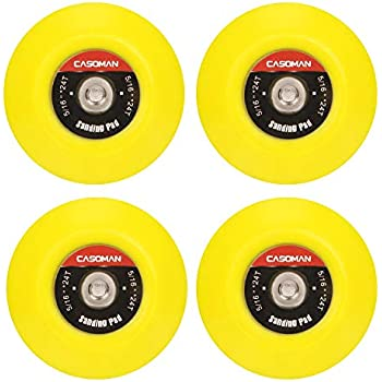 Aispor 5Pcs 3 Inch Hook and Loop Rotary Backing Pad Drill Spindle Backer Pad 1//4-20 Internal Thread Back Up Plates for Sanding Disc and Buffer