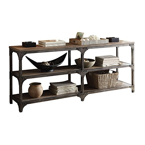 "ACME Furniture Acme 72680 Gorden 70"" Server, Weathered Oak & Antique Silver"