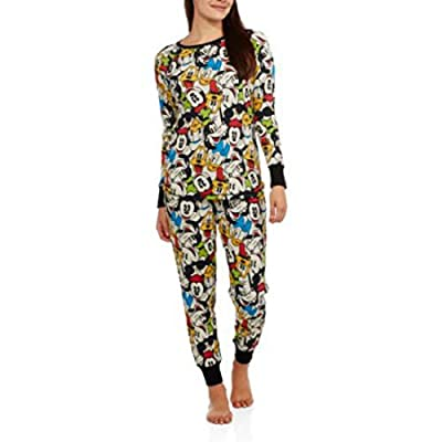 Mickey & Minnie Mouse, Donald & Goofy Thermal Pajamas For women
