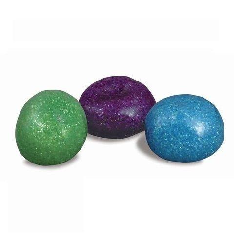 Glitter Bead Morph Ball Office Stress Relief Desk Toy OT/PT Sensory Box Toy (Purple)