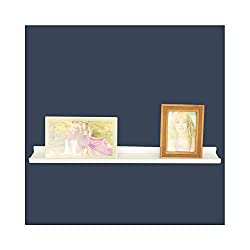 Wall Frame Shelf, WUDENHOM Modern Design Picture Christmas Gifts Wall Mountable Floating Shelves White(23.6×3.9×1.4Inch,1 Pack)