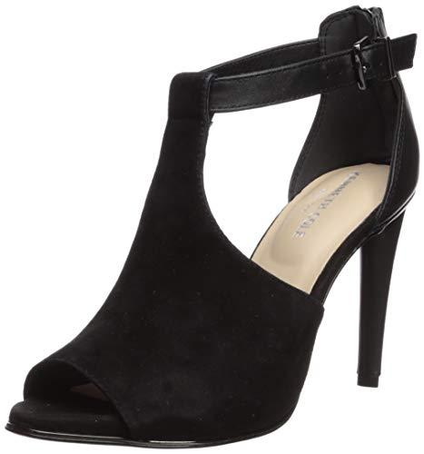 (Kenneth Cole New York Women's Brylie Peep Toe T-Strap Dress Sandal Heeled, Black, 6 M US)