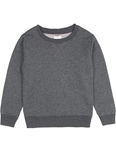 (Spring&Gege Youth Basic Sport Crewneck Pullover Sweatshirts for Boys and Girls Oxford Grey Size 5-6 Years)