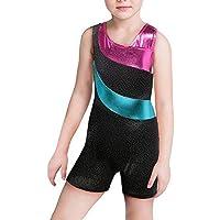 Fashion Sequins Gymnastics Leotard Sparkling Biketard Dance Shorts for Girls Kids