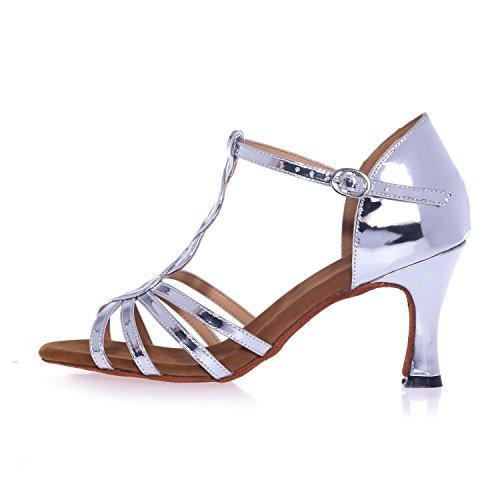 personalizzabile Scarpe Da Donne yc Latin L 7 5cm Silver ballroom silver Alta Pelle In Ballo Artificiali Gold xHBgZFw