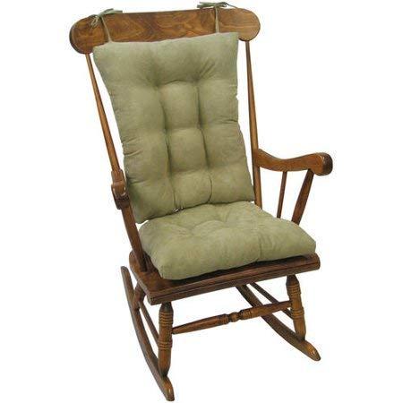 Non-Slip Cushions Rocking Chair Cushion Gripper Twillo Jumbo in Thyme by The Gripper