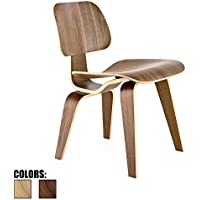 2xhome - Walnut - Brown Wood - 18 Seat Height Plywood Dining Side Chair Plywood Lounge Chair for Dining Room Living Room Wood Chairs Accent Chairs