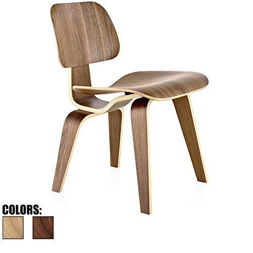 2xhome – Walnut – Brown Wood – 18″ Seat Height Plywood Dining Side Chair Plywood Lounge Chair for Dining Room Living Room Wood Chairs Accent Chairs Review