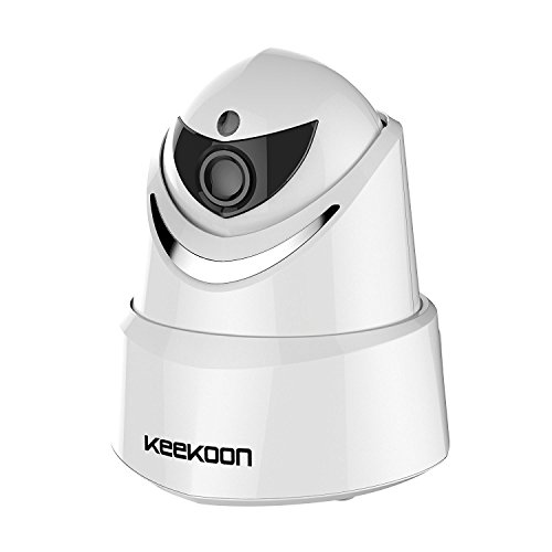 Cheap KEEKOON 1080P Wireless Wifi Home Surveillance Security Monitoring Dome Camera Indoor Security Camera with Pan/Tilt Motion Detection Night Vision Two-Way Audio Pet Monitoring Dome Camera(White)