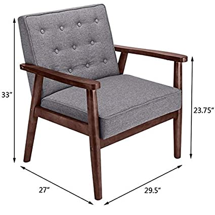 Amazon.com: Only9left 440 lbs Retro Modern Accent Chair Mid ...